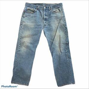 Vintage Levi's 501 button ups distressed jeans 16